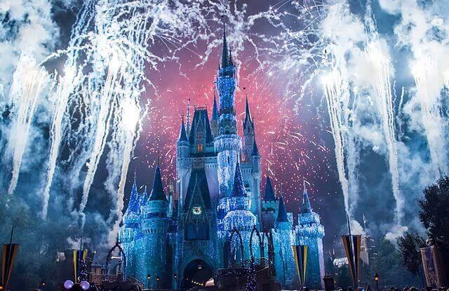 Tűzijáték a Cinderella Castle-nél!