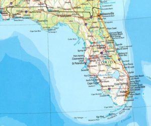 USA térképrészlet