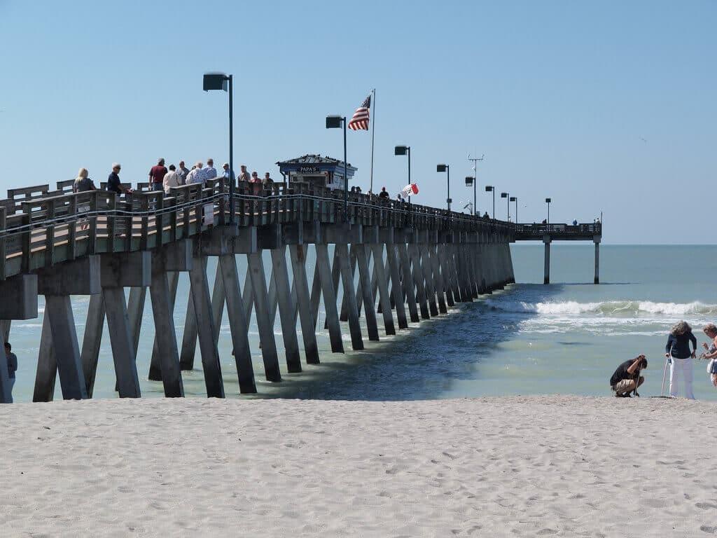 Gyönyörű tengerpart a velencei Caspersen Beach-nél!