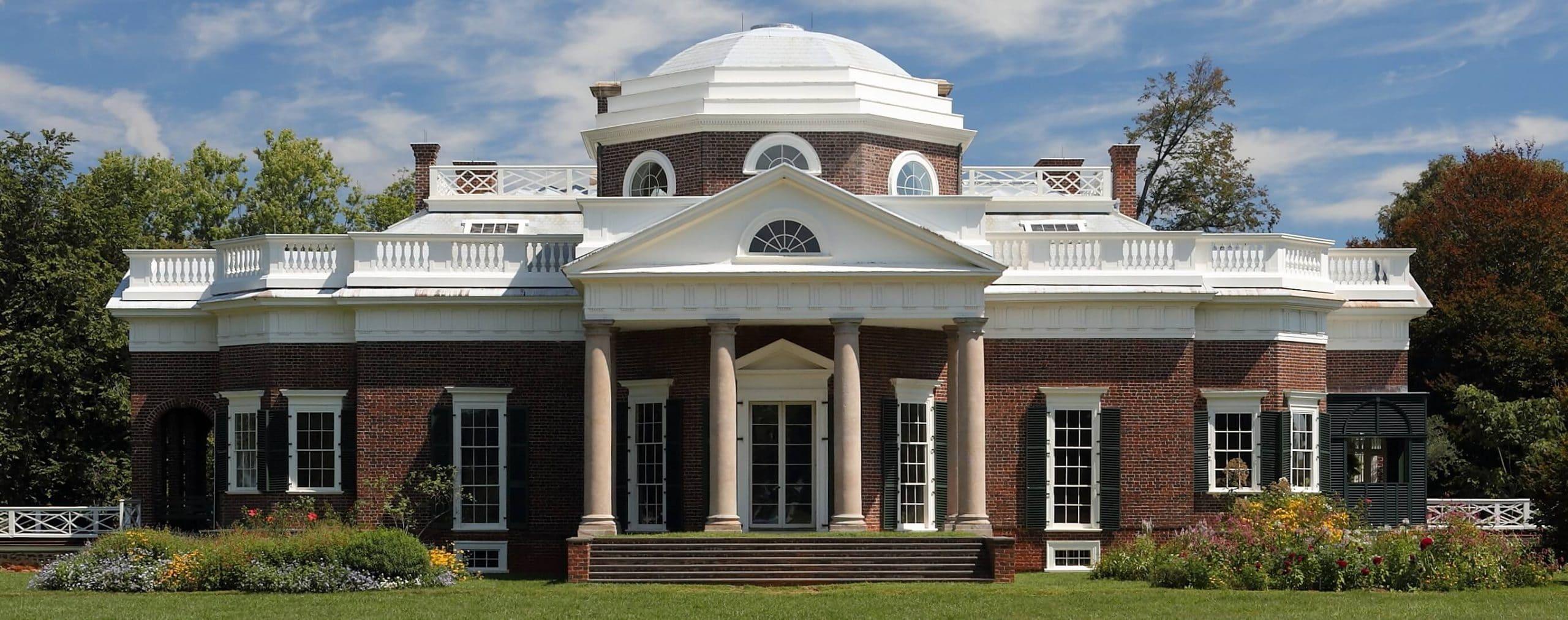 Monticello és a Virginiai-egyetem az USA-ban