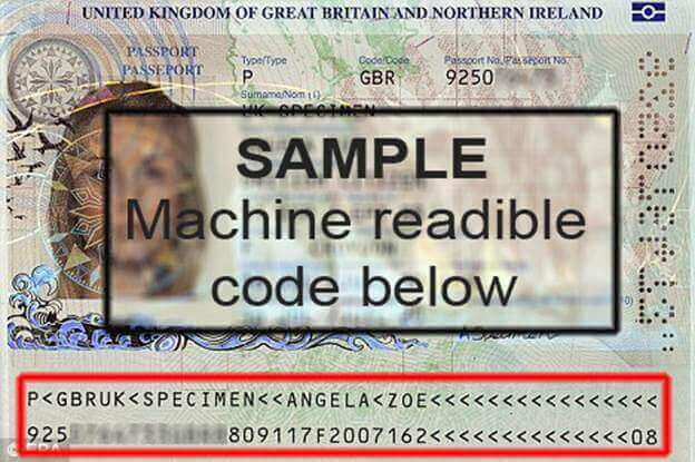Gép által olvasható útlevél