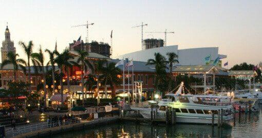 Miami belvárosi kikötő