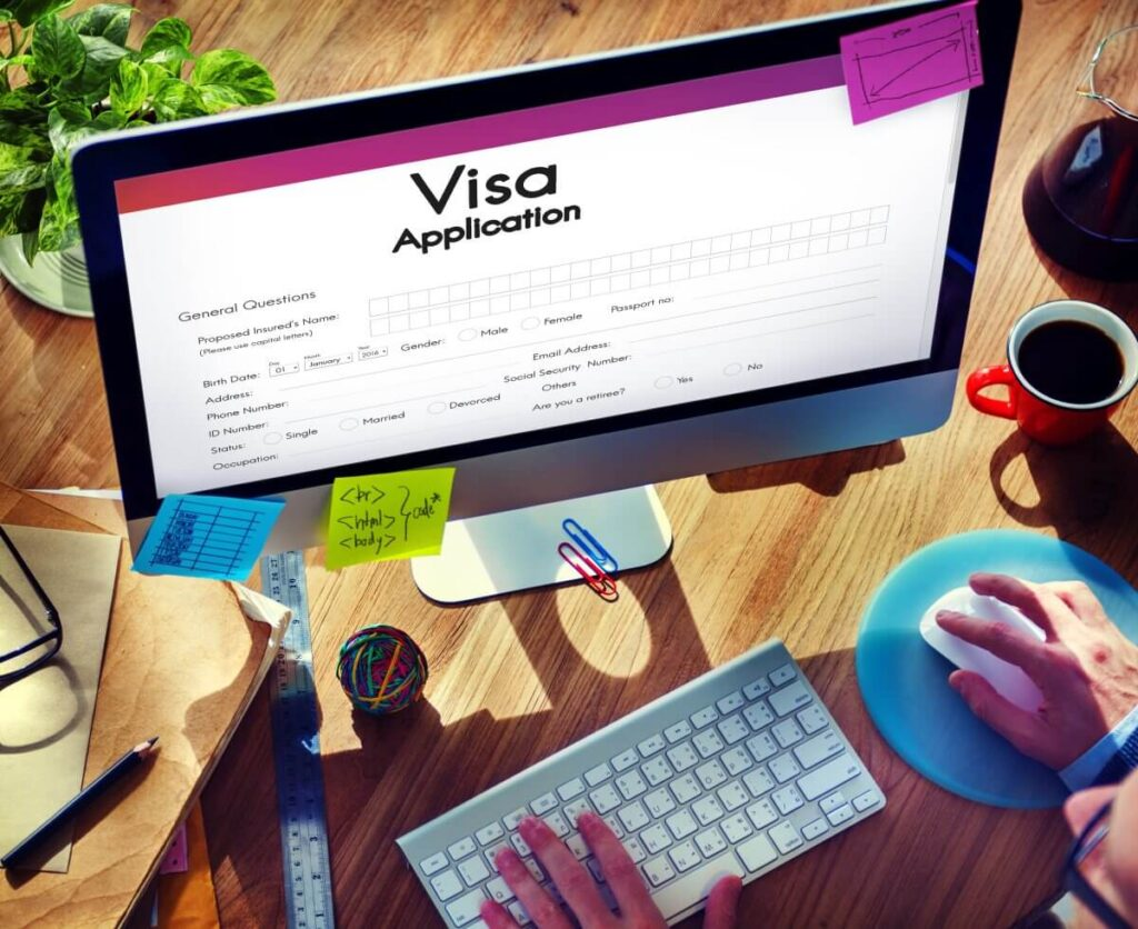 Utazási vízum igénylési űrlapjának kitöltése
